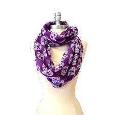Infinity scarf loop Cowl Wrap Skull Pattern