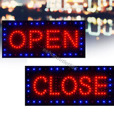 "USA 2 in1 Bright LED Open&Closed Store Shop Business Sign 9.8*18.9"" Display neon"