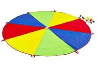 Childrens Play Parachute 2.5m & 20 Balls Outdoor Exercise Sport Garden Game