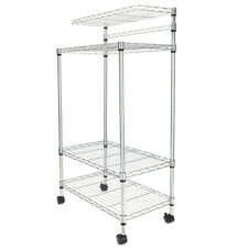 4 Tier Kitchen Baker Rack Microwave Oven Stand Storage Cart Workstation Shelf US