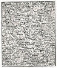 D0641 Cartina geografica della valle Imagna - Stampa del 1928 - Old Print