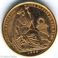Peru 50 Soles 1966 oro @@ Sin Circular @@