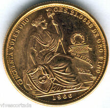 Perù 50 Soles 1966 oro @@ Senza Circolare @@