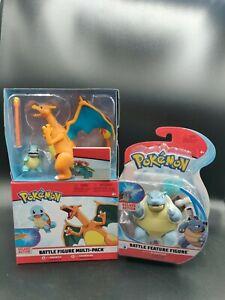 Pokemon Blastoise Charizard Squirtle Battle Feature Figure Lot 🔥 💦
