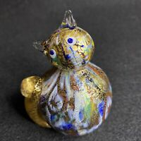 Stunning MURANO MILLEFIORI Cat Italy Glass Figurine Gold Flake Perfect Sticker