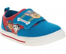 Paw Patrol Size 7 Toddler Boys Slip On Blue Red Canvas Shoes