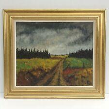 Paisaje pinturas LV. andersen petróleo nordico 20 JH. bosque borde expessionismus arte