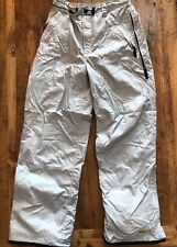 "Pulse Snowboard Pants Womens Size Large Gray Ski Snow Winter Pants 30"" Waist"
