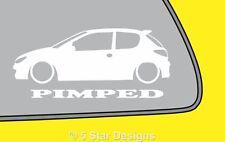 2x prostitution Peugeot 206 HDI GTI RC Contour Autocollant LR5