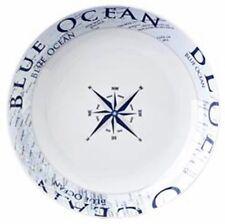 Navyline Azul Océano Plástico Duro Suppen-Teller Vajilla en el Marítima Diseño