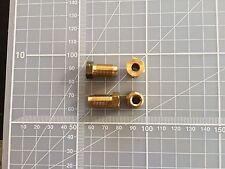 M10 x 1 male Tube union nut fitting brake pipe hardline in BRASS x 4off