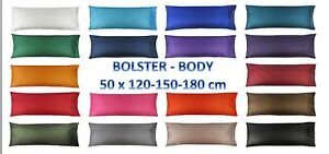 4, 5, 6 Feet BODY BOLSTER Silk LONG Pillow Case Cover Slip Pregnancy Orthopaedic