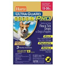 Hartz Ultraguard PRO 15-30 lbs Flea & Tick For Dogs & Puppies 3 App.