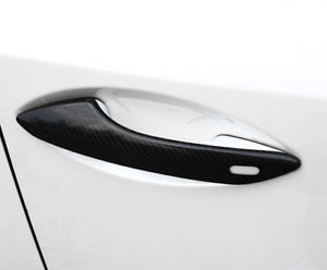 DRY CARBON FIBER OUTER DOOR HANDLE COVER W. KEYLOCK CUTOUT FOR 2015- NX
