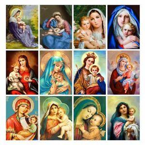 Neuf Arrivées Vierge Mary Christ Religion Enfants Strass Diamant Peinture Décor