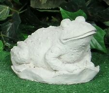 Baby Toad Frog Froggie On Lilly Pad Latex Fiberglass Mold Concrete Plaster