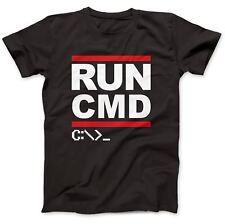 Run CMD Computer Programmer T-Shirt 100% Premium Cotton Geek Nerd Funny Gift