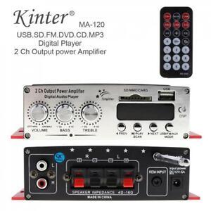 2CH 40W Power Mini HiFi Audio Stereo AMP Amplifier For Car Home FM MP3 Player