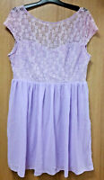 Elite 99 floral lacey lilac dress, size 16, BNWT, party, prom, wedding