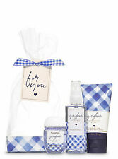 BATH AND BODY WORKS GINGHAM TRAVEL SIZE 3 PCS GIFT SET