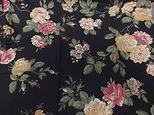 WEST POINT STANDARD FULL Pillow Sham (1) BLACK ROSE FLORAL RALPH LAUREN NEW