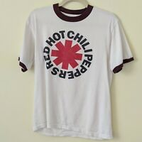 Red Hot Chili Peppers Men White Logo T-shirt Size Small