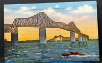 Cooper River Bridge Charleston South Carolina Vintage Postcard