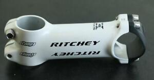 "RITCHEY Comp Road Bike Stem Threadless 1-1/8"" x 100mm x 31.8mm White NEW"