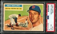 1956 Topps Baseball #315 MILT BOLLING Boston Red Sox PSA 6 EX-MT