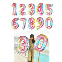 """32"""" Inflatable Number Foil Helium Balloon Baby Shower Birthday Party Decor-WI"""