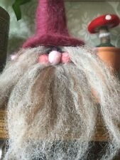 Scandinavian Christmas Gnome/ Nisse/tomte, Hand Made Needle Felted OOAK