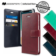 For iPhone X 7 8 6 6S Plus 5 5S Leather Wallet CASE MERCURY BLUEMOON DIARY Cover