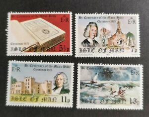 Isle of Man 1975 Christmas and Manx Bible set  MUH B32
