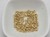 100 Perles en Bois 3mm Naturel Creation Bijoux, Collier, bracelet