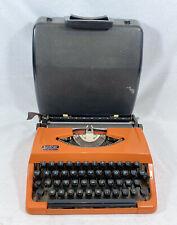 machine à écrire BROTHER 210 Orange vintage + révisée TBE