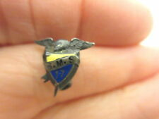 Antique 1917 Small Pin S.M.S. Enamel With Eagle Top Sterling