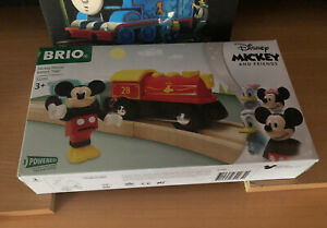 32265 Brio Wooden Battery Operated Mickey Mouse Train! New! Thomas!