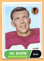 1968 Topps Football #114A Pat Richter (EX) -- Washington Redskins