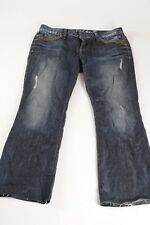 GUESS FOXY FLARE Jeans Distressed Dark wash Size 32 with special design