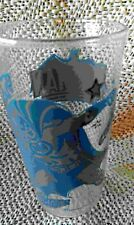 Original 1960s Batman action drinking glass, 6 ounce, blue and grey enamel excel