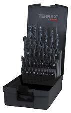 Terrax by RUKO 25pcs. Twist Drill Bits Set 1-13.0mm HSS-R in increments of 0.5mm