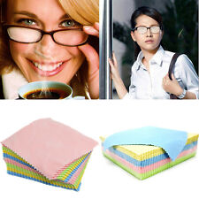 10Pcs Microfiber Eyeglass Square Cleaning Cloth Screen Camera-Lens Cleaner Heiß