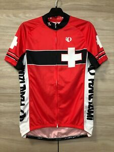 Pearl Izumi Switzerland Confoederatio Helvetica Cycling Bike Jersey Shirt size L