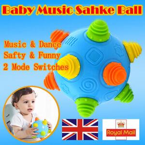 Bouncing Ball Sensory Vibrating Music Shake Baby Move Learning Dancing Toy HP1