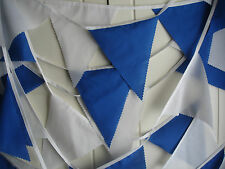 90ft LEICESTER CITY BLUE AND WHITE FABRIC BUNTING ( STRAIGHT EDGE)