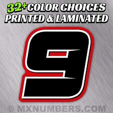 4 Color MX Number Plate Decals Sticker Graphics Motorcycle SX Dirt Bike Kart ATV