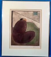 """Rare Eng Tay """"Companion"""" Original Aquatint Etching Signed w/ Stamp LE 1980"""