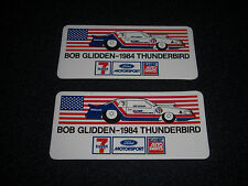 Bob Glidden 1984 THUNDERBIRD NHRA Vintage Stickers Lot of 2