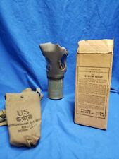 Vintage WWII US Civilian 1943 Dated Gas Mask NonCombatant Size Adult Medium