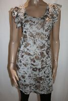 Franklin Lee Brand Animal Print Frill Sleeve Shift Dress Size S LIKE NEW #AN02
